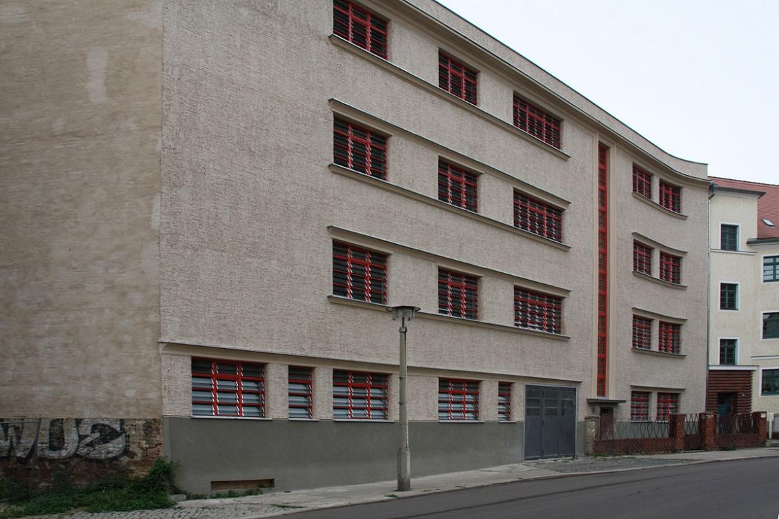 Die Südfassade der Großgarage Halle Süd (Bild: S. Huke)