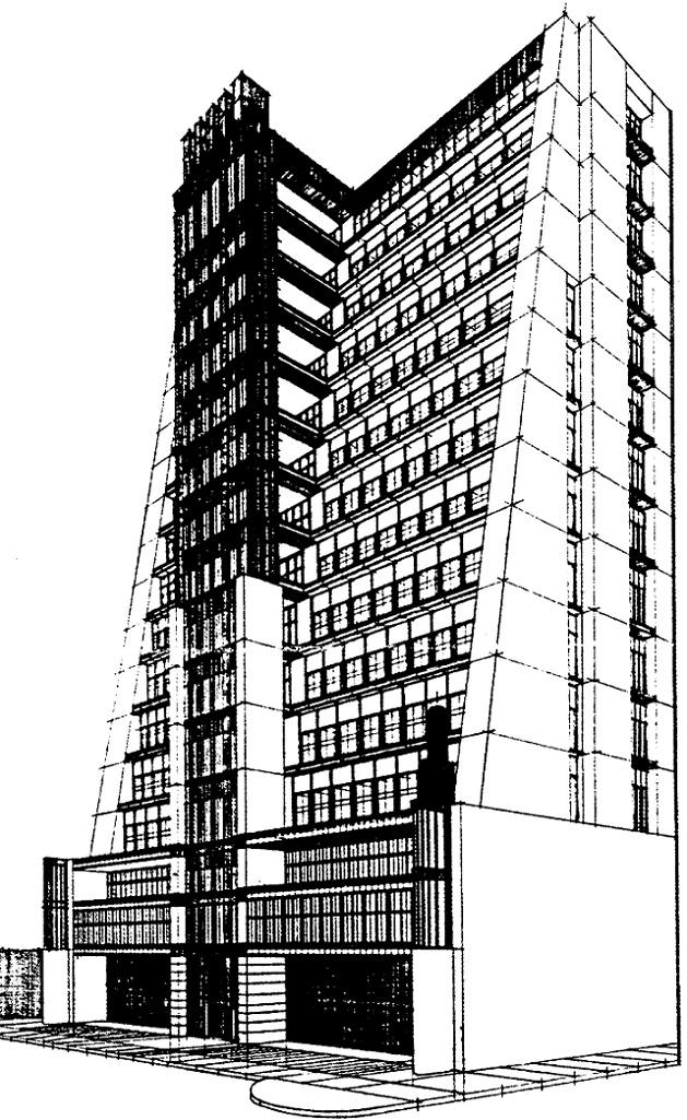 "Antonio Sant'Elia, ""Città Nouva"" (1914) (© aus: Lampugnani, V. M., Antonio Sant`Elia. Gezeichnete Architektur, München 1992)"