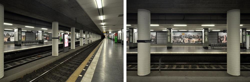 Hannover-Waterloo, Inbetriebnahme: 26. September 1975, Stadtbahnlinien: 3, 7, 9 (Bild: Hartmut Möller, 2020)