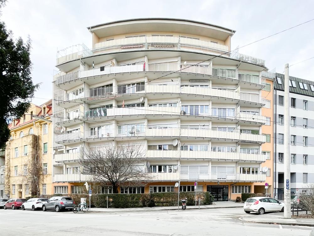 Graz, Wohnhochhaus (Theodor Culk, Heinrich Gottwald, Viktor Reiter, 1957–64) (Bild: Cornelia Ott/Lisa Presnik)