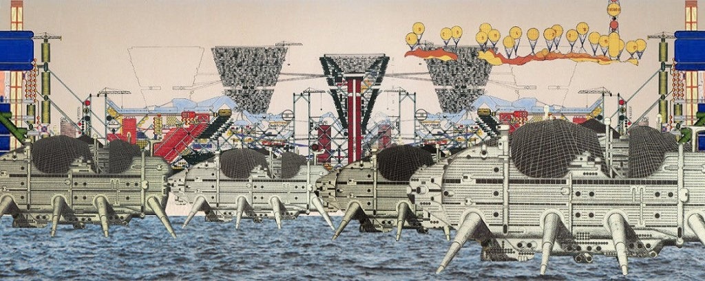 "Archigram, ""Walking City"" (1964) (© www.openbuildings.com)"