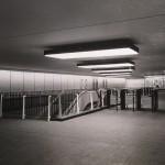 Um 1960 gestalteten Grundmann und Sandtmann den U-Bahnhof am Hamburger Hauptbahnhof (Foto: F. Hewicker, Bild: Archiv F. Grundmann, um 1960)