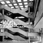Ostendorf/Westfalen, Kaufmännische Berufsschulen, Eingangshalle (BrunoLambart, 1969) (Bild: A:AI Archiv für Architektur und Ingenieurbaukunst NRW, Nachlass Bruno Lambart)