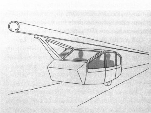 """Fritz Haller """"A-Bahn"""" (1968) (© aus: Krieger, P., Fritz Halle, in: Thesis 3/4, 1997)"""