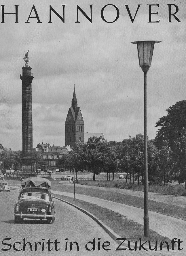 Hannover, Titelbild eines Tätigkeitsberichts der Stadtverwaltung aus den 1950er Jahren