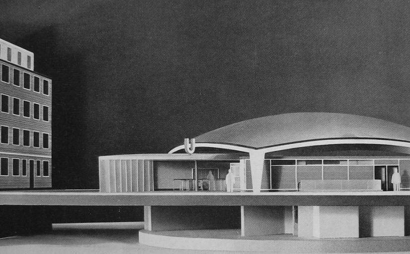 """Modell des Kuppelbaus für die Hamburger U-Bahn-Haltestelle """"Lübecker Straße"""""""