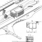Pionierlager Artek, Lager Meer, Schlafgebäude, Plangrafik (Bildquelle: Polianski, A. T., Artek, Moskau 1966)