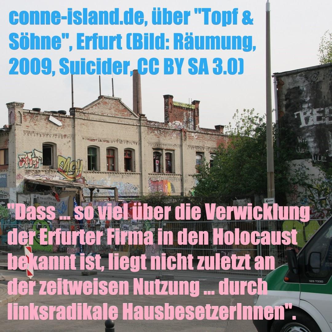 Erfurt, Topf & Söhne (Bild: Räumung des besetzten Hauses, Suicider, 2009, CC BY SA 3.0)