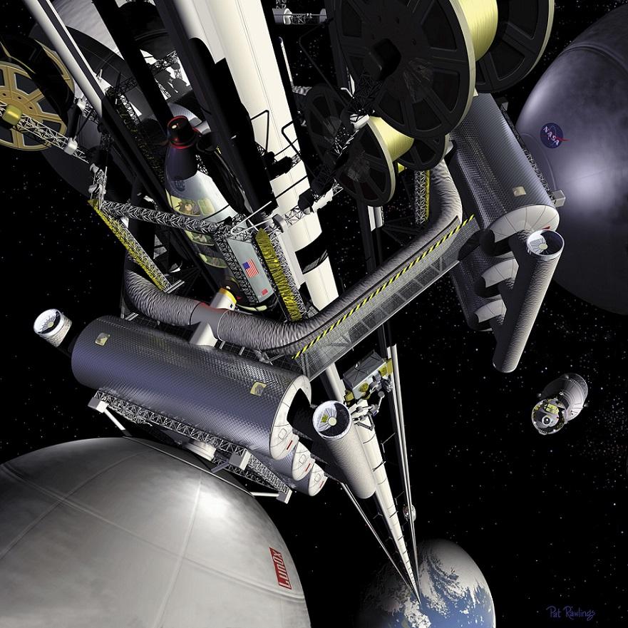 """NASA """"Space Elevator"""" (2005) (© NASA/www.wikipedia.org)"""
