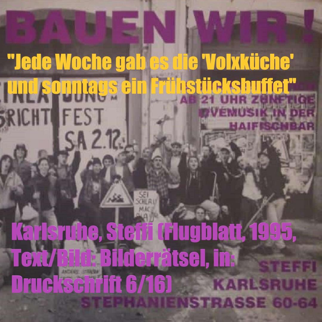 Karlsruhe, Steffi (Bild: historisches Flugblatt, aus: Druckschrift 6/16)