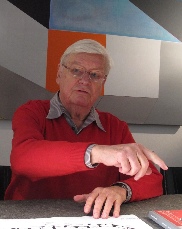 Friedhelm Grundmann in seinem Hamburger Büro (Bild: D. Bartetzko)