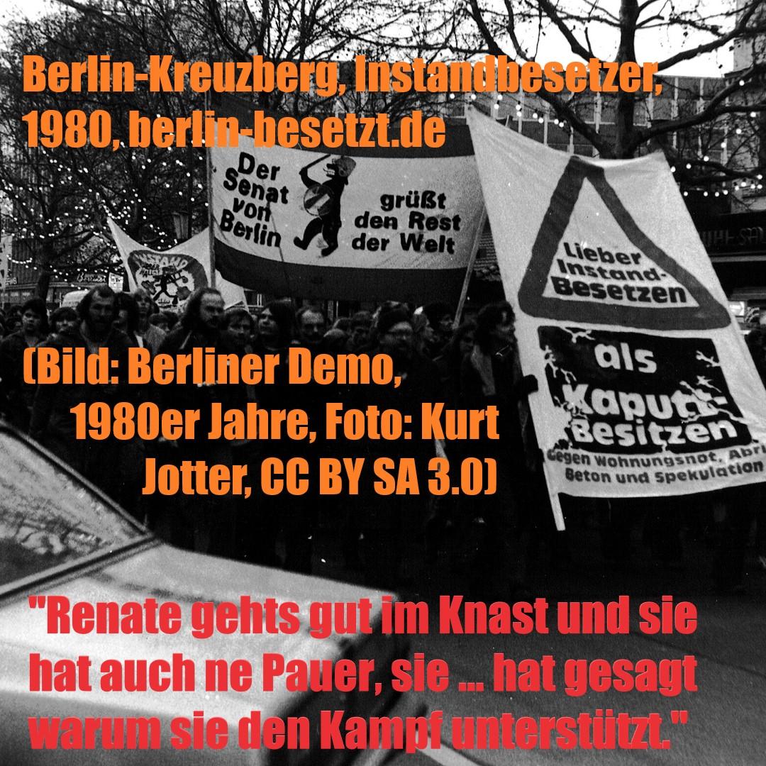 Berlin, Demo, 1980er Jahre (Bild: Kurt Jotter, CC BY SA 3.0)