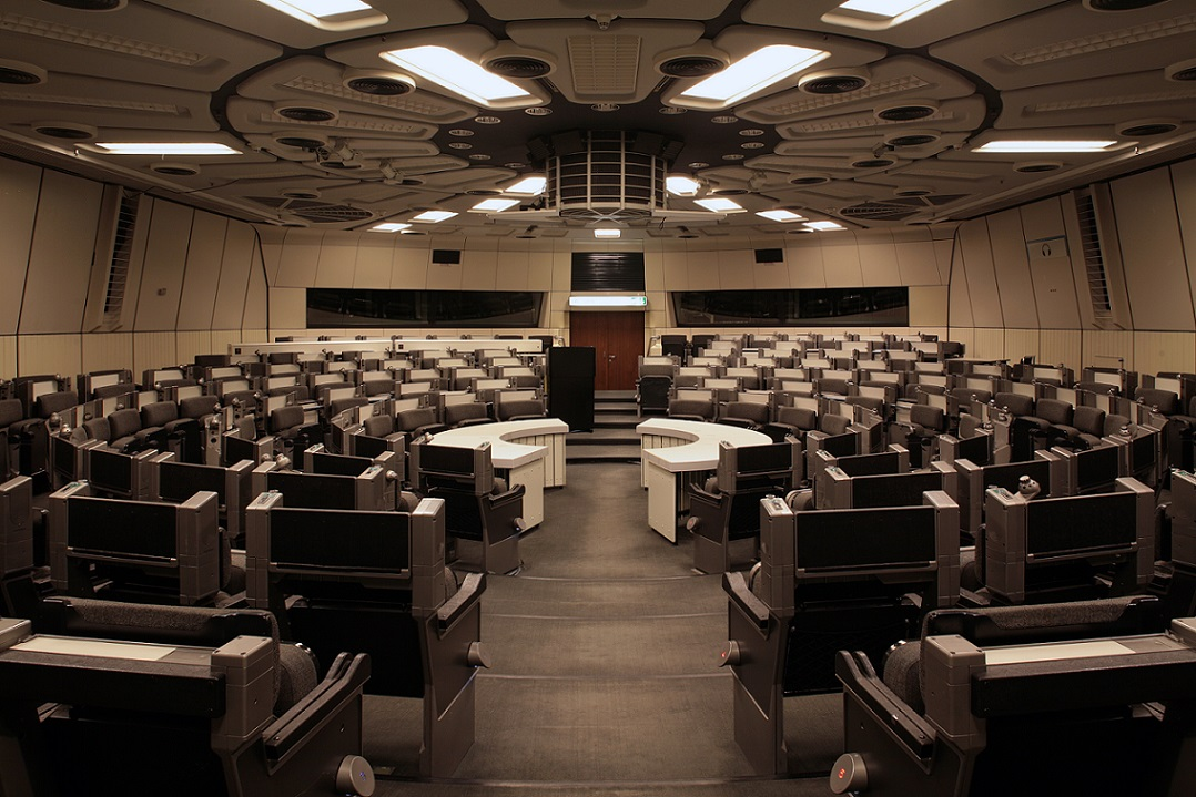 """Erinnert an das Raumschiff Orion: der """"Runde Saal"""" im ICC Berlin (Bild: Alfred Englert)"""