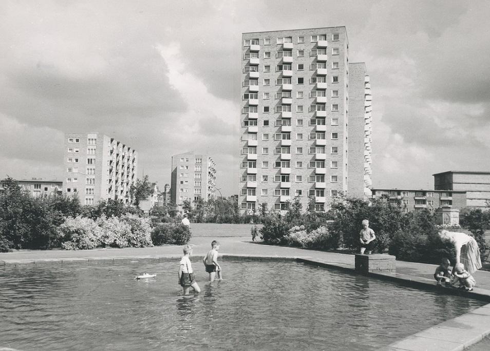 Das neue Altona – Wohngebiet der Neuen Heimat in den 1960er Jahren (Bild: Neue Heimat, Hamburgisches Architekturarchiv)