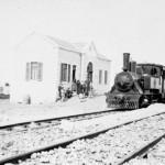 Bahnhalt auf der Ebene Jesreel (Schwarzweiß-Fotografie, um 1905, Copyright: G.-Dalman-Institut Greifswald)