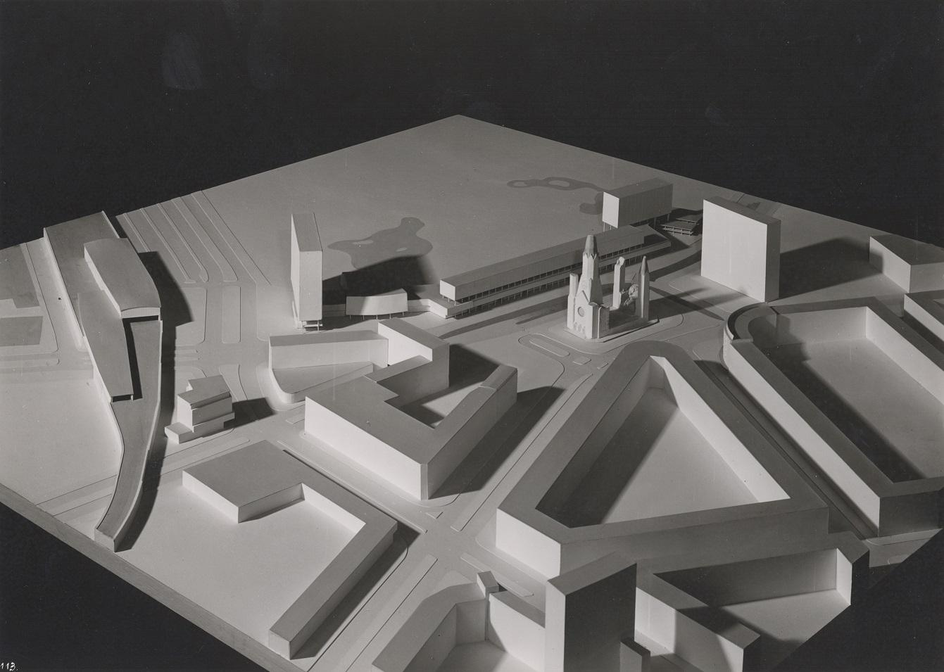 Berlin, Bikini-Haus, Modell (Bild: Archiv Paul Schwebes)