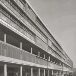Berlin, Bikini-Haus, Fassadendetail (Bild: Archiv Paul Schwebes, um 1960)