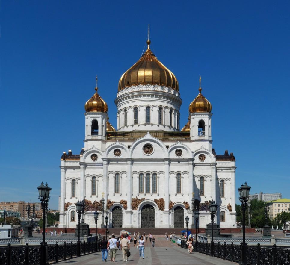 Die Christ-Erlöser-Kathedrale in Moskau wurde nach dem Ende der UdSSR wieder aufgebaut (Bild:  Alvesgaspar)