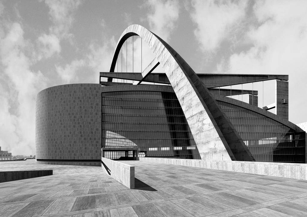 Le corbusier wollte ber den kopfbau einen m chtigen for Architecture 1950