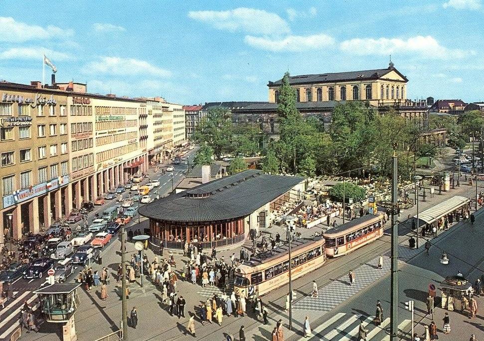 Hannover, Kröpcke, 1960er Jahre (Bild: historische Postkarte, Scan: Dierk Schäfer)