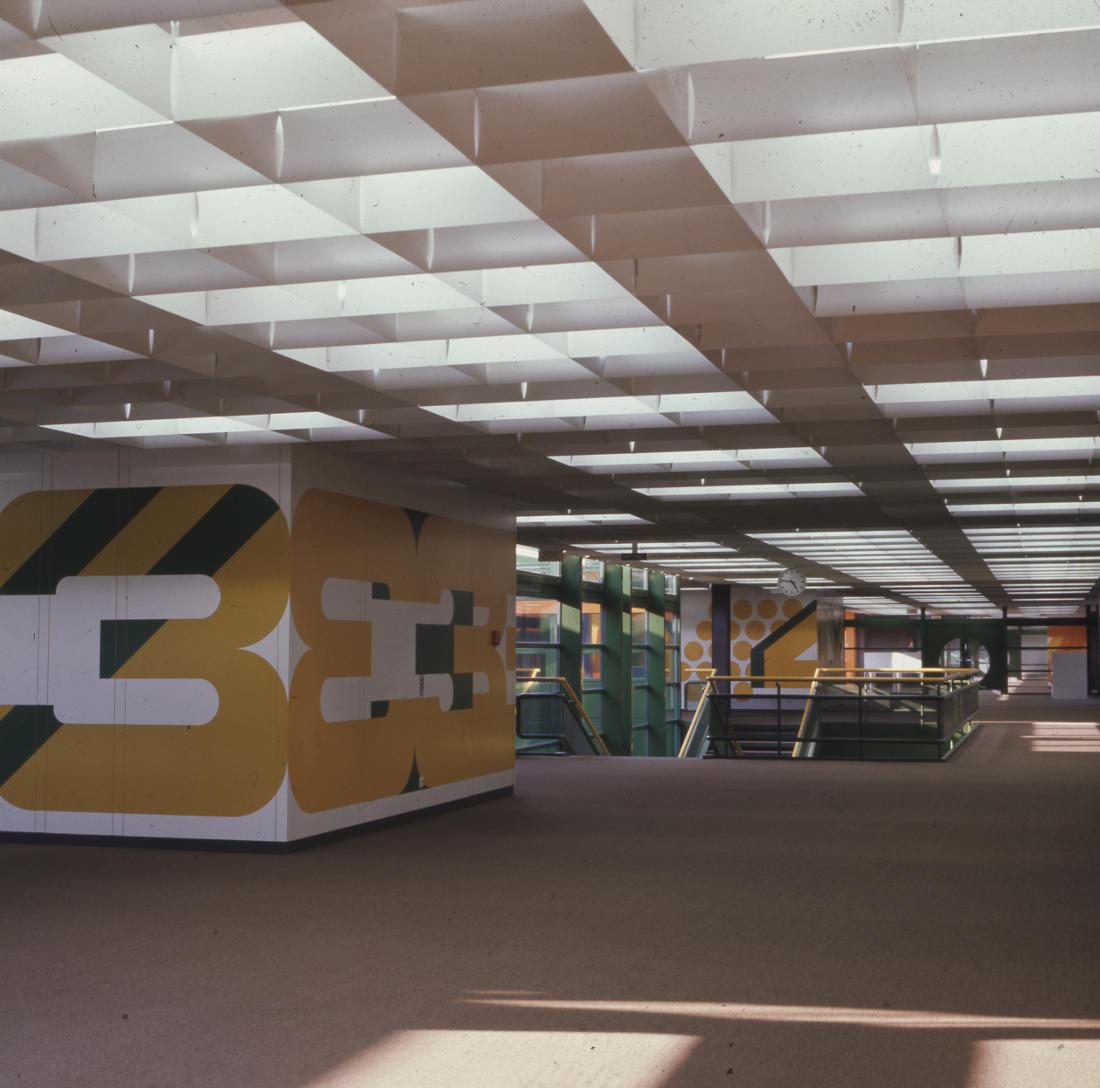 Braunschweig, IGS West, Obere Schulstraße (Architekten PJS, 1971–1975) (Bild: SAIB G124)