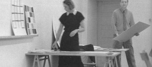 HfG-Grundlehre, Walther Peterhans, 1953 (Foto: Eva-Maria Koch, Hans G. Conrad. HfG-Archiv/Museum Ulm)