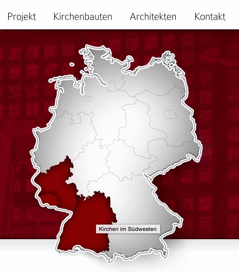 Strasse der Moderne, Homepage, Regionen (Bild: DLI)