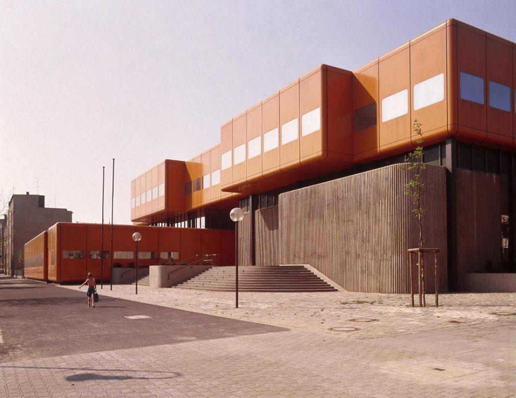 Berlin, Oberstufenzentrum Wedding (Architekten PJS, 1971–1976) (Bild: SAIB G124)