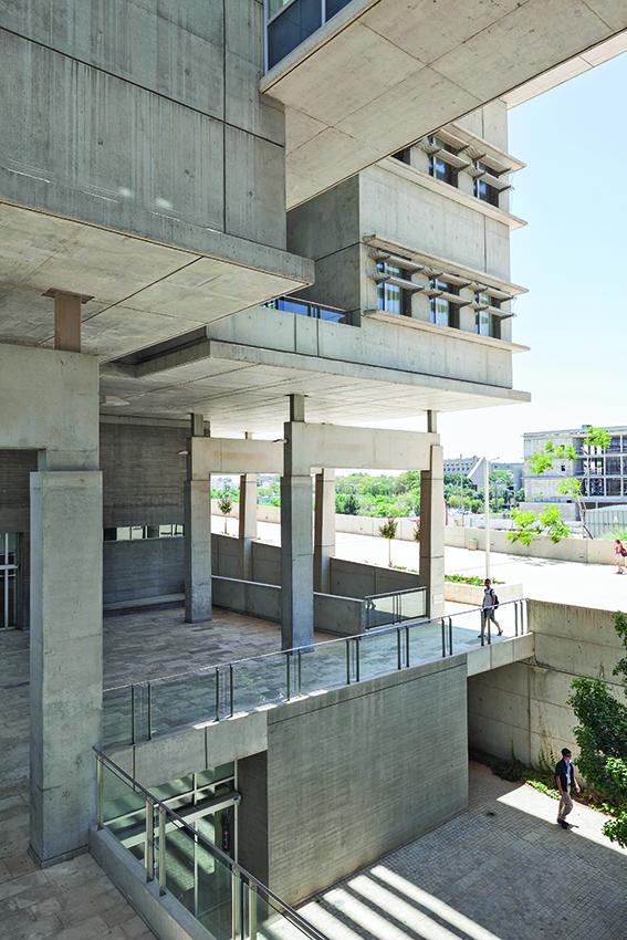 Beer Sheva, Sacta-Rashi Physics Building, Ben Gurion University, Campus (2010, Danny Lazar/Ronny Alroey) (Foto: Shai Epstein, Copyright: Bauhaus Center Tel Aviv)