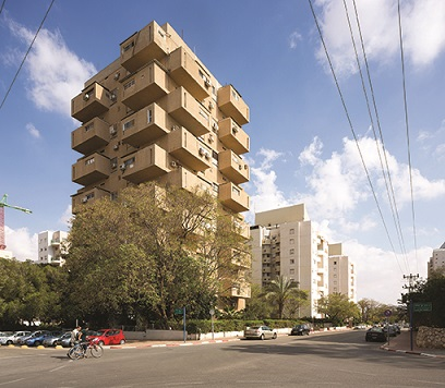 Beer Sheva, The Drawer Tower. Shimoni 9 (1962, Moshe Lufenfeld/Giora Gammerman) (Foto: Shai Epstein, Copyright: Bauhaus Center Tel Aviv)