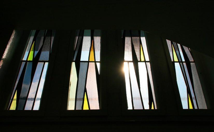 Bottrop, Sparkasse, heute verlorene Treppenhausverglasung (Bild: Wilfried Feck, Sparkasse Bottrop)