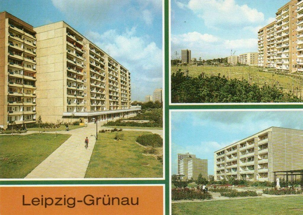 Leipzig-Grünau, Alte Salzstraße (Bild: historsiche Postkarte)