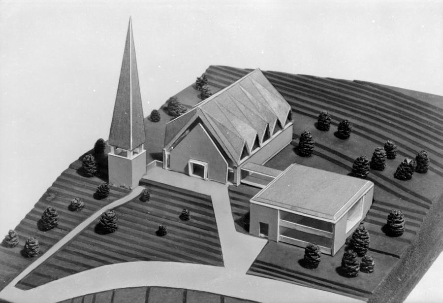 Arnsberg, Erlöserkirche, Modell (Nachlass Wyland Kuschel, um 1967)