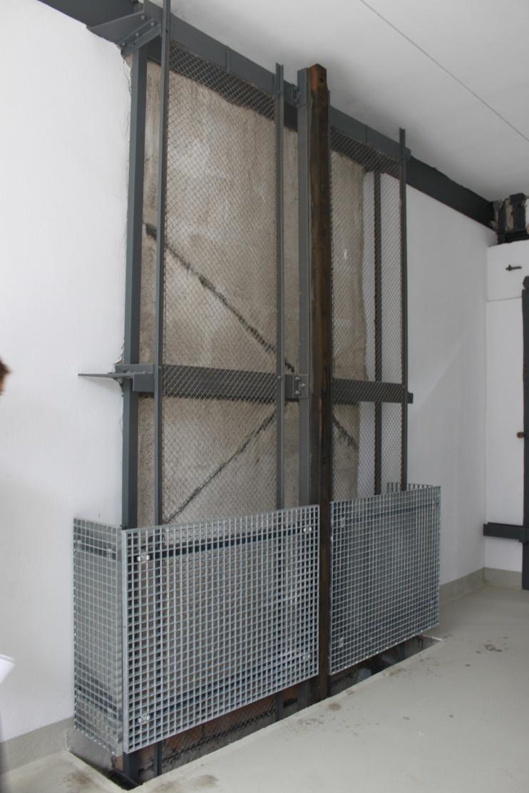 Aufzugsanlage in der Großgarage Halle Süd (Bild: S. Huke)