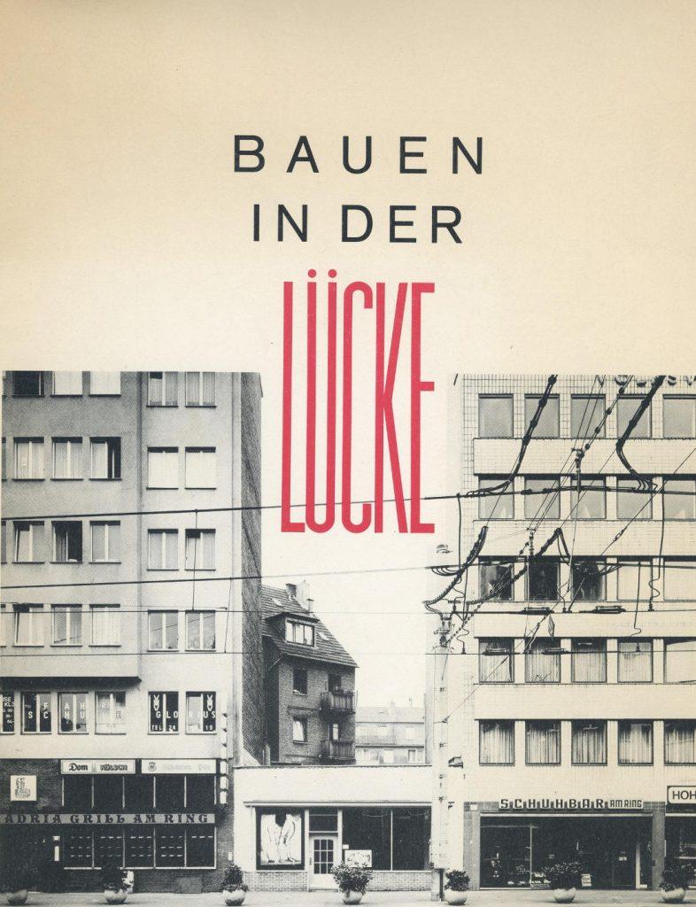 """Titelblatt der Kölner BDA-Publikation """"Bauen in der Lücke"""" von 1984 (Bild: Cover)"""