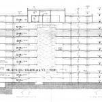 Schnitt durch den geplanten Neubau von 1970 (Bild: Deutsche Rentenversicherung Baden-Württemberg)