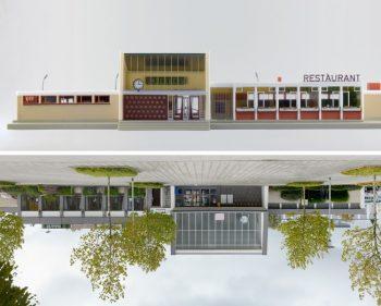 """Das Faller-Modell """"Bahnhof Neustadt"""" und sein reales Vorbild, der Bahnhof in Goch (Bilder: Hagen Stier)"""