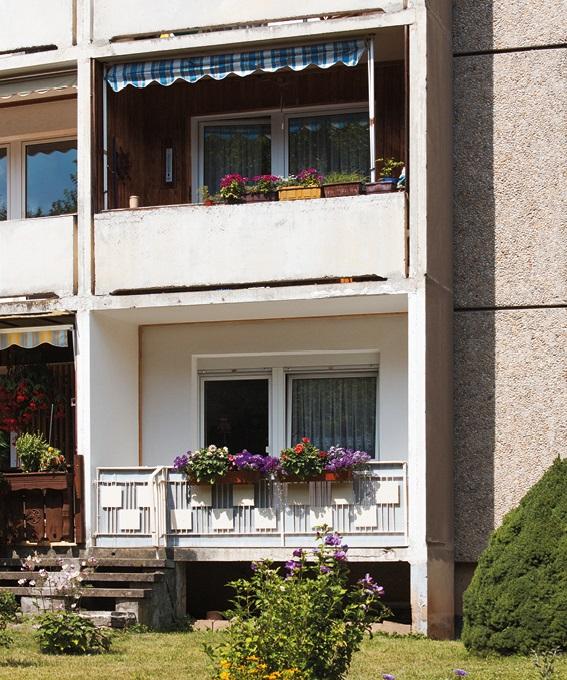 Balkone heute in Gera-Lusan (Bild: Christoph Liepach)