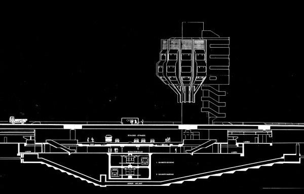 Ralf Schüler/Ursulina Schüler-Witte: Entwurf zum Turmrestaurant Steglitz, Berlin, 1972 (Copyright: Archiv Schüler-Witte)