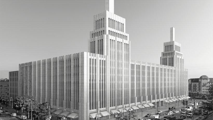 Berlin-Neukölln, Karstadt, Visualisierung des Umbaus (Bild: Berlin-Neukölln, Karstadt (Bild: ChipperfieldArchitects, 2019)