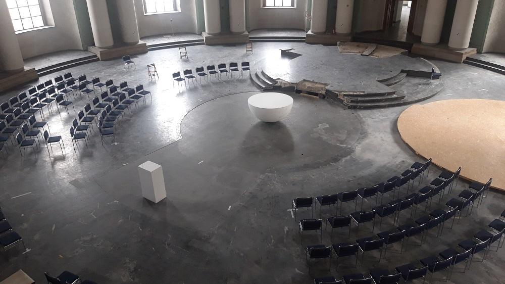 Berlin, St. Hedwig während der Umbaumaßnahmen (Bild: Nikolaus Bernau, März 2021)