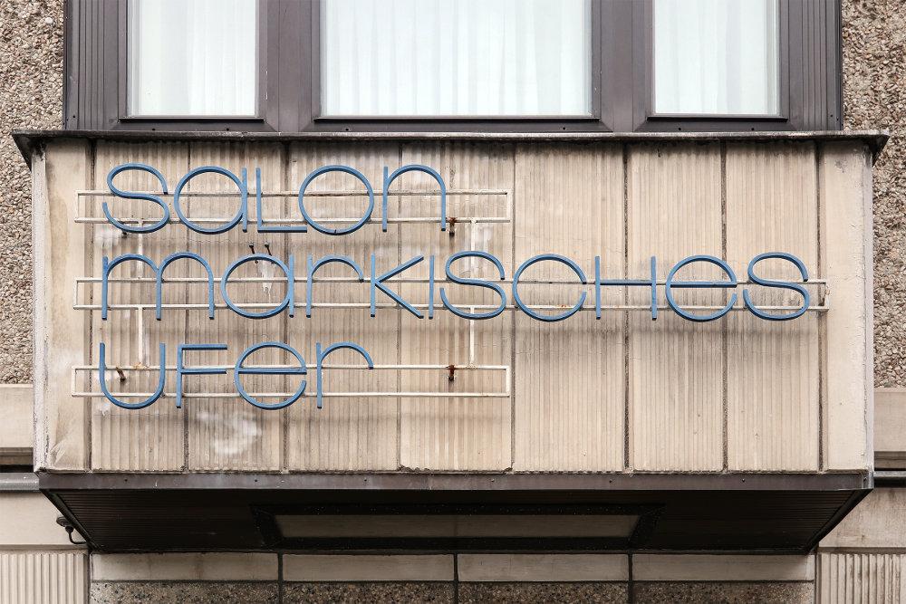 Berlin, Werbe-Schriftzug (Bild: Martin Maleschka)