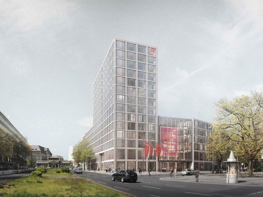 Berlin, Simulation für das neue DGB-Haus (Bild: Ortner & Ortner Baukunst)