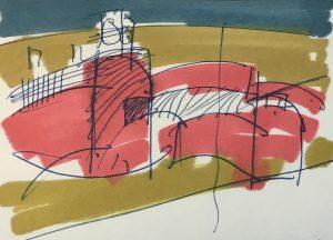 Berlin, Fehrbelliner Platz, Entwurfszeichnung für den Pavillon, R. G. Rümmler, um 1968 (Bildquelle: Landesarchiv Berlin, E Rep. 300-70-22)