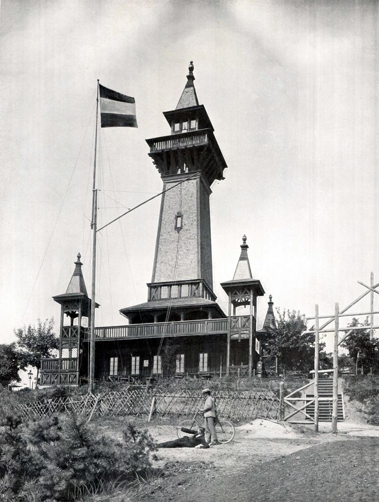 Berlin, Müggelturm, um 1900 (BIld: historische Abbildung, via wikimedia commons, gemeinfrei)