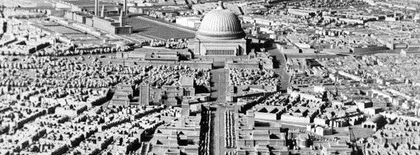"""Berlin, Modell zur Neugestaltung nach den Plänen von Speer (""""Welthauptstadt Germania"""") (Foto: Nachlass Albert Speer, Bild: Bundesarchiv Bild 146III-373, CC BY SA 3.0, 1939)"""