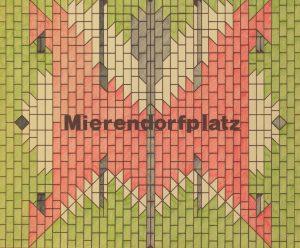 """Berlin, U-Bahnhof """"Mierendorffplatz"""" (Bild: Entwurfsgrafik für die Hintergleiswand, Rainer G. Rümmler, Bildquelle: Landesarchiv Berlin)"""