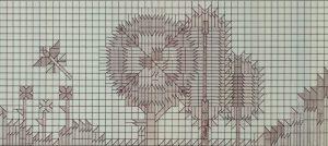 """Berlin, U-Bahnhof """"Paulsternstraße"""", Entwurf Rainer G. Rümmler, 1980-81, Eröffnung Oktober 1984 (Bild: Ausführungszeichnung für die Hintergleiswand, Rainer G. Rümmler, 1981, Bildquelle: Landesarchiv Berlin, E Re. 300-70(Karten) Nr. 16 (74))"""