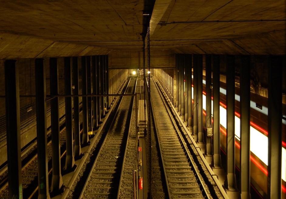 Berlin, U-Bahnhof Gesundbrunnen, Aufstellanlage der U8 (Bild: Holger Happel)