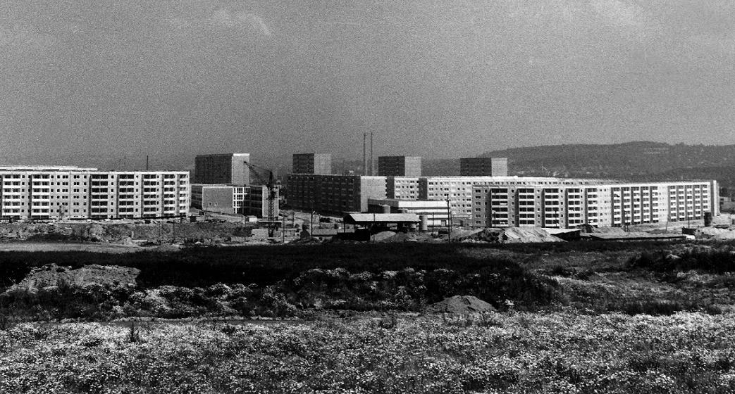 Blick auf den zweiten Bauabschnitt von Gera-Lusan (Foto: Winfried Mann, Quelle: Stadtmuseum Gera)